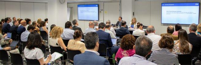 Imagen de la reunión de constitución del CTN sobre Economía Circular en la sede de la Asociación Española de Normalización, UNE, celebrada hoy 27 de junio.