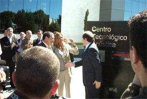 Dña Ana Espinel y Juan Vicente Herrera en un momento de la Inauguración